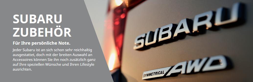 Subaru Zubehör und Ersatzteile online Kaufen bei Auto Allemann AG